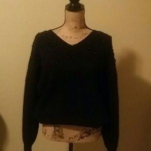 Black w/Black  Pearl  Sweater